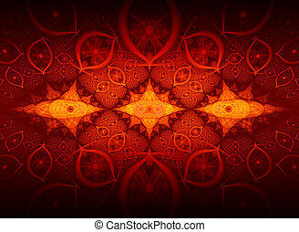 Fire Flower abstract