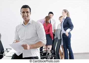 young business man at meeting - Confident young business man...
