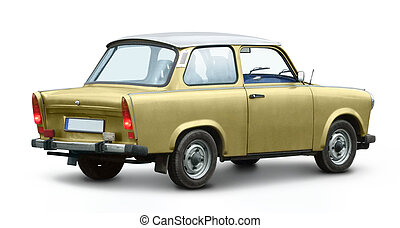 trabant - historic east german car named Trabant in white...