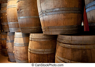 Wine barrels - Barrels of South African wine