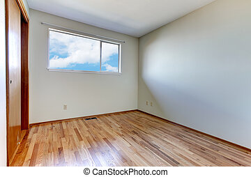 Empty room interior with wood floor - Clean new empty room...