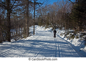 cross country skiing. free style track. Mont Saint-Anne,...