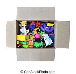 toy in a box - A box of unwanted toy