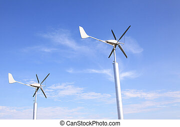 Wind Turbines Farm using as Green Power and Energy