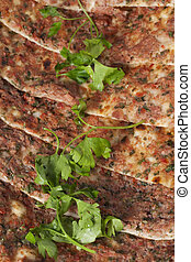 Pita bread with minced meat