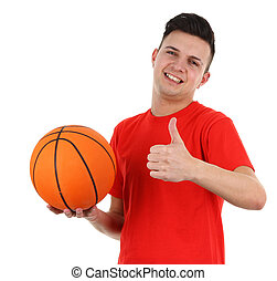 Basketball player - A basketball player with a thumbs up...