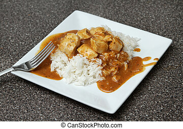 chicken tikka marsala - one serving of a spicy chicken tikka...