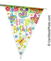 happy birthday sign - colorful happy birthday sign over...