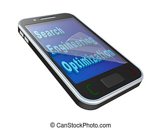Modern mobile phone with SEO  inscription