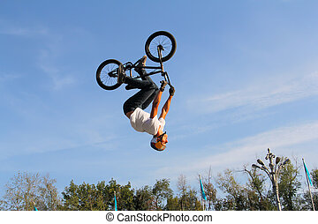 teenagers on bicycles bmx