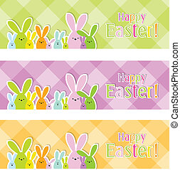 Easter web banners - Set of colorful Easter web banners