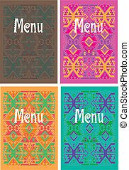 vector mexican menu cover design