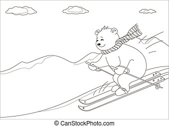 Teddy-bear skies in mountains, contours - Teddy-bear slides...