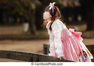 japanese lolita cosplay - japanese girl in lolita cosplay...
