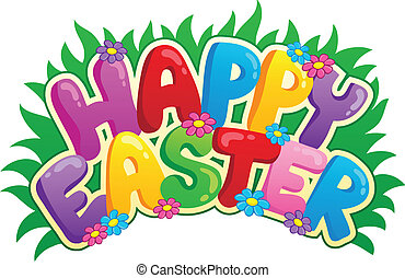 Happy Easter sign theme image 2 - vector illustration