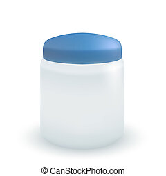 Vector container for cream or soap isolated on white.
