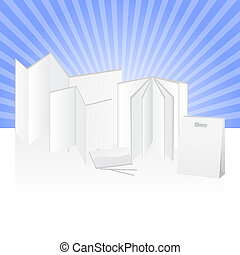 Paper advertising print products - Blank set of products for...