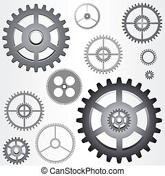 vector gears - Illustration of the various gears - cog...