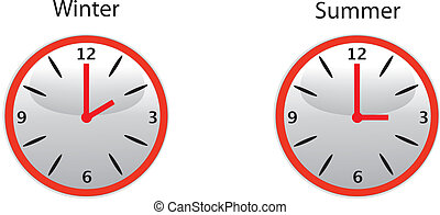 daylight saving time - the wintertime and summertime clock