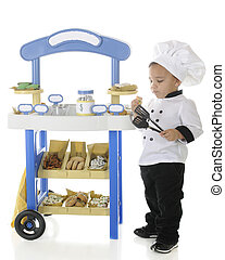 Little Baker Snitching Cookies - An adoarable preschool...