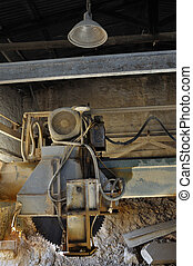dust covered cutting wheel - Dust covered cutting wheel in...