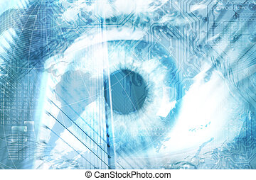 Futuristic vision of human eye