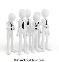 3d man businessman team