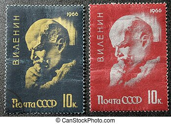 The postmark with Lenin