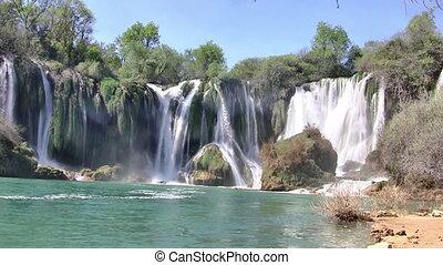 Waterfall at river