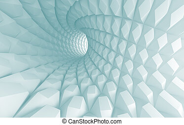 Abstract Tunnel Background - 3d Illustration of Abstract...