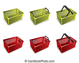 3D Plastic shopping basket