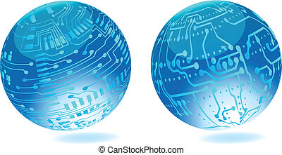 Circuit board background .Vector - Circuit board background...