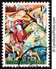 BELGIUM - CIRCA 1967: a stamp printed in the Belgium shows...