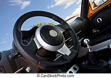compact sportscar interior