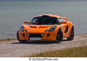 TALLINN, ESTONIA - JUNE 16, 2008: An orange Lotus Exige S...