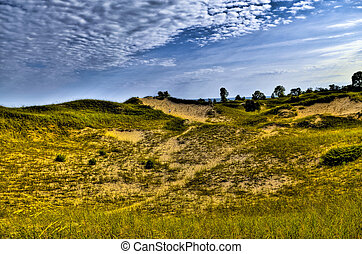 Creeping Juniper Nature Trail - Sand Dunes Dramatic Sky over...