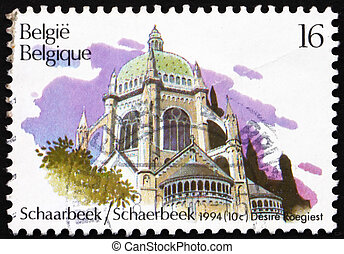 Postage stamp Belgium 1994 Royal St Marys Church, Schaarbeek...