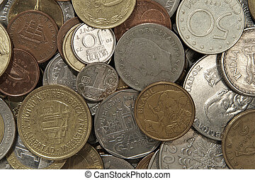 Money of different countries. - Money of different countries...
