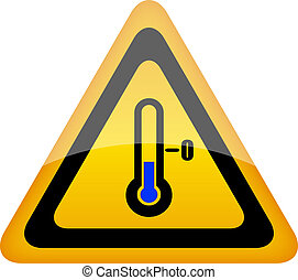 Low temperature warning sign, vector illustration
