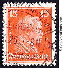 Postage stamp Germany 1926 Immanuel Kant, philosopher -...