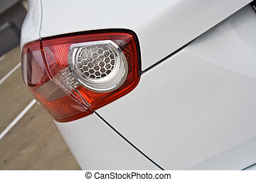 taillight closeup - Taillight detail of modern SUV