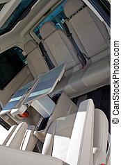 interior of a minivan - interior of a luxury minivan