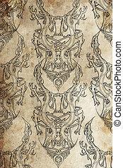 t�towierung, Muster, keltisch, bund