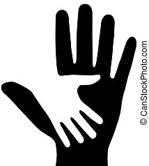 The Hands. - On white background, are drawn two hands. The...