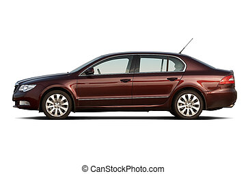 Large family sedan - Cherry red large family sedan