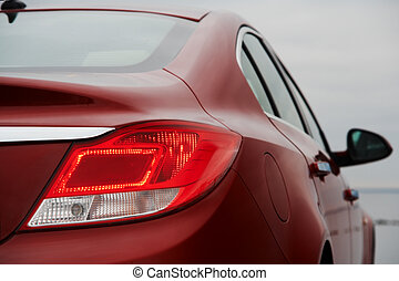Rear light of red business car