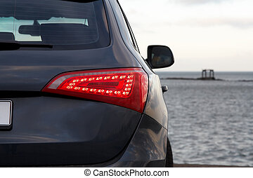 Rear light - Luxury SUV rear light closeup