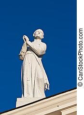 estatua, C/, Stanislaus, catedral, Vilnius, Lituania