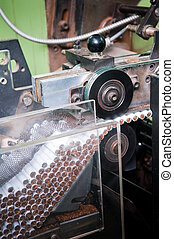 Modern cigarette factory, process of production
