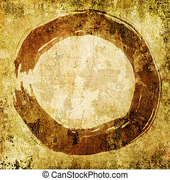 hand painted zen circle - enso - hand painted zen circle on...